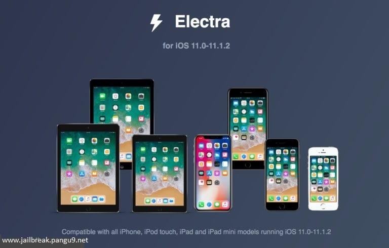Electra Jailbreak for iOS 11 - iOS 11 1 2 - Pangu 9